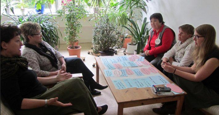 Arbeitsgruppenphase im World Café, 2015 in Chemnitz.