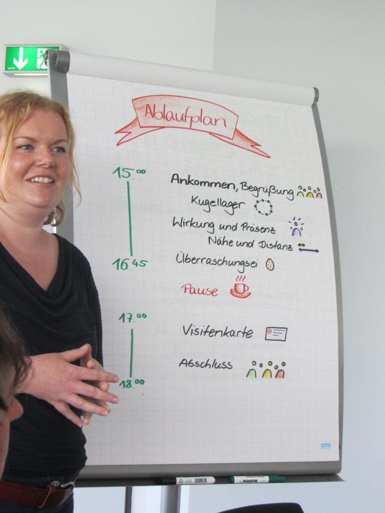 Maria Kropp stellt den Ablauf des Seminars vor