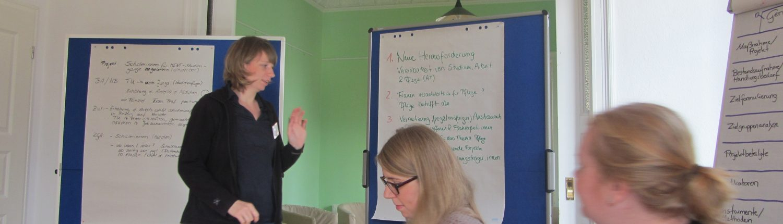 Präsentation von Ergebnissen der Gruppenarbeit